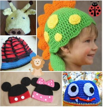 Crochet Animal Hats: 55 Free Crochet Hat Patterns for Kids ...