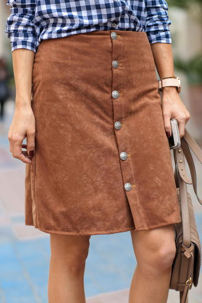 That 70s Suede DIY Skirt