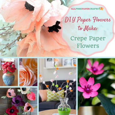 DIY Paper Flowers to Make 10 Crepe Paper Flowers