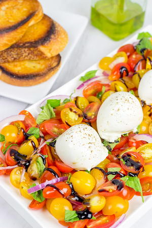 Tomato and Burrata Caprese