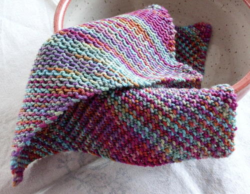 Two Sides Knit Dishcloth