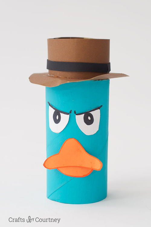 Perry the Platypus Toilet Roll Craft