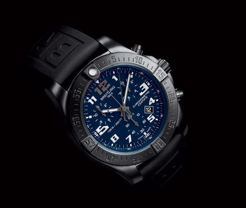 Breitling Chronospace Evo Night Mission in Black and Blue