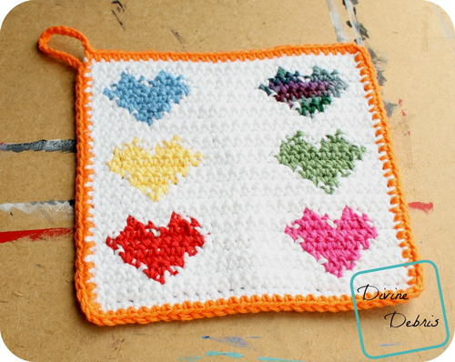 Pretty Hearts Hot Pad