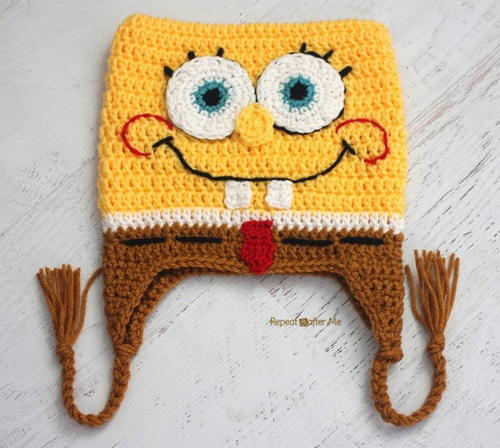 Crochet Bob the Square Sponge Hat