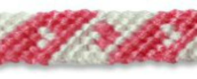 Mini Heart Friendship Bracelet Pattern