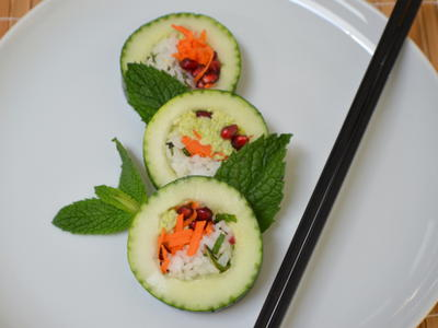 Cucumber Wrapped Rolls