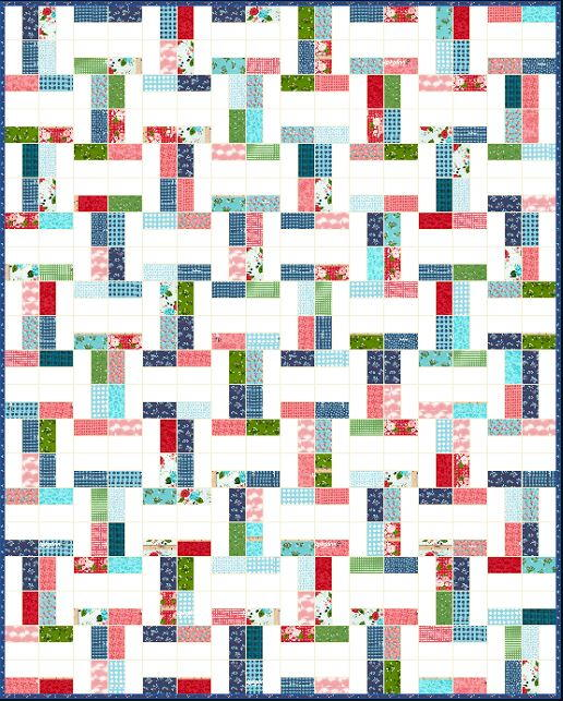 Betsy Jelly Roll Quilt Pattern