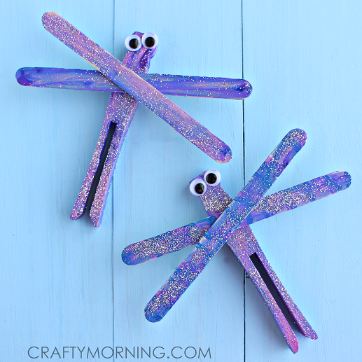 Beautiful Popsicle Stick Dragonflies