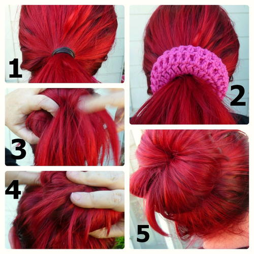 Crocheted Sock Bun