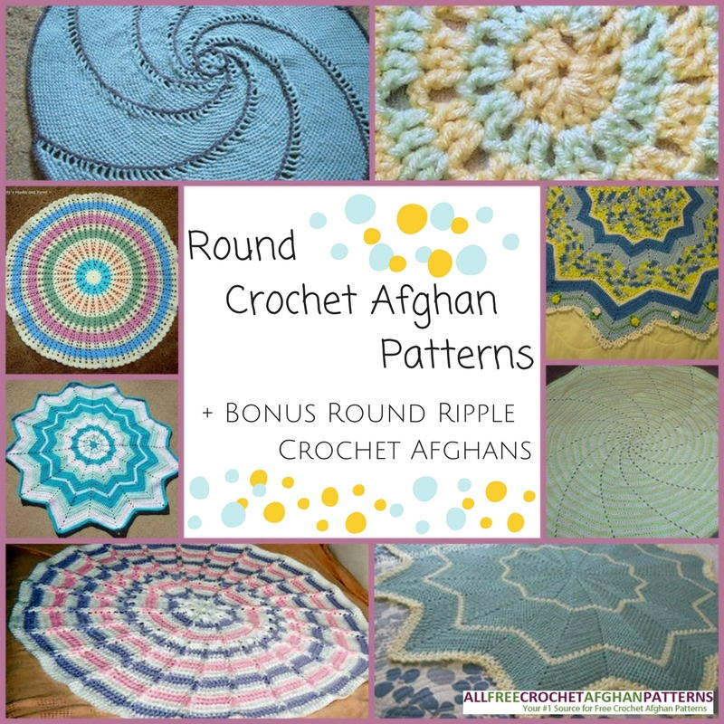 10+ Round Crochet Afghan Patterns | AllFreeCrochetAfghanPatterns.com