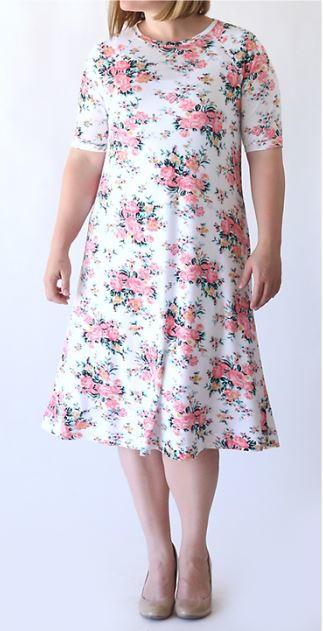 Easy Tee Swing Dress Pattern AllFreeSewing Delectable Swing Dress Pattern