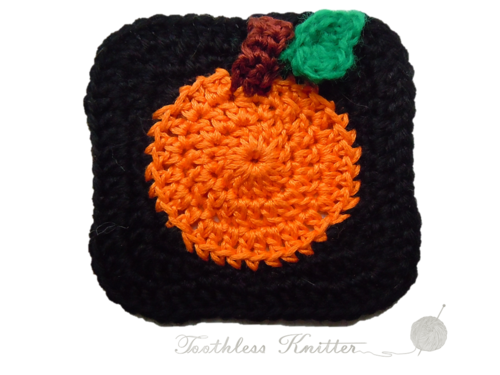 Granny Squares with Pumpkin