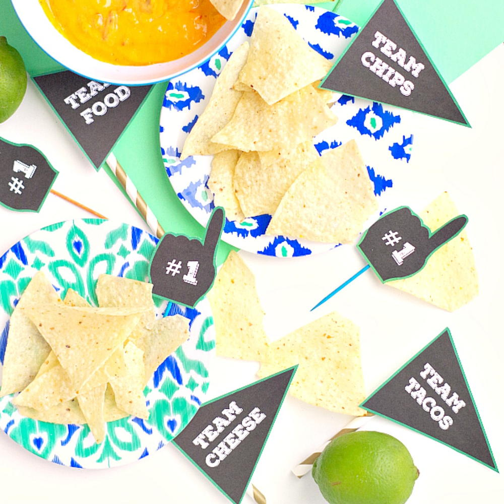 Printable Sports Party Food Labels