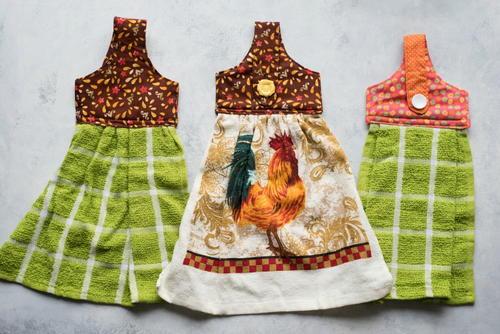 Charmant Sewn Hanging Dish Towel Pattern
