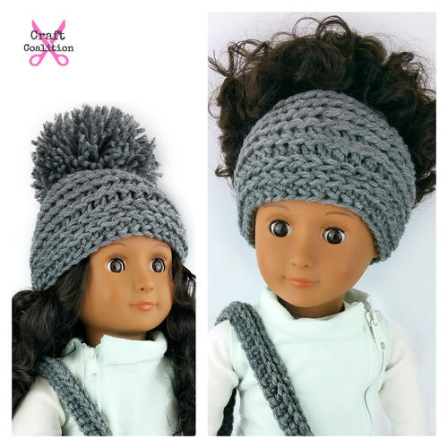 My Dolly Edgy Messy Bun Hat 2-in-1 _1