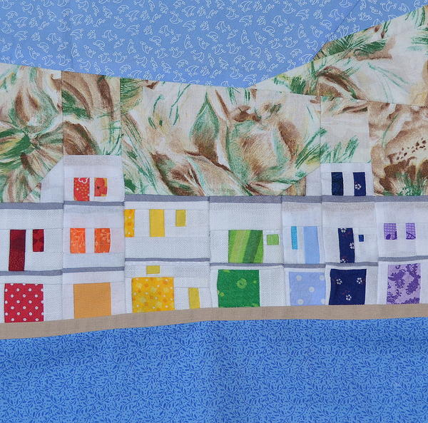Rainbow Fishing Village Paper Piecing Pattern