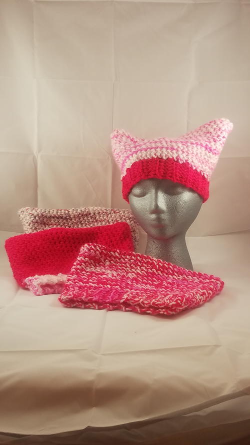 Pussy Cat Hat Pattern 4 in Yarn Weights