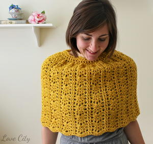 Lacy Bell Crochet Capelet