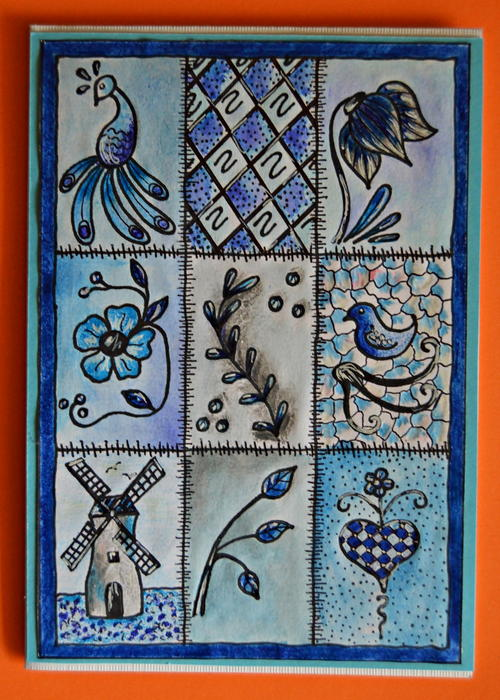 Delft Inspired Handmade Card