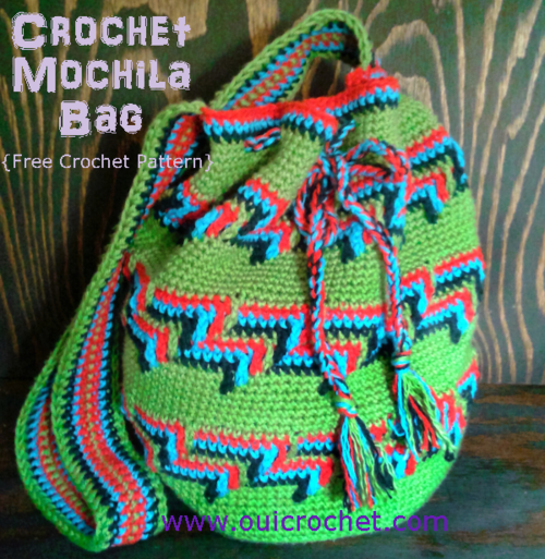 Colorful Mochila Bag Crochet Pattern Allfreecrochet
