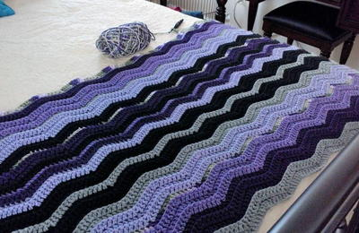 Restful Ripple Crochet Throw