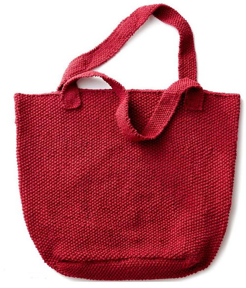 Strawberry Seed Knit Tote