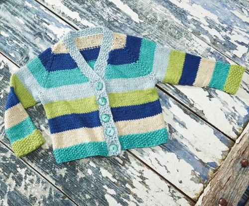 Hopscotch Baby Cardigan Allfreeknitting