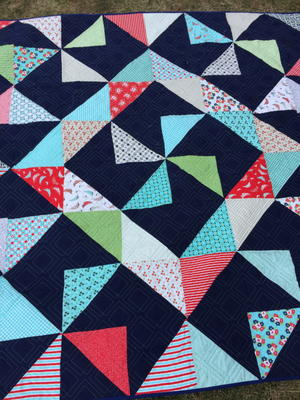 Square Wheel Quilt Pattern