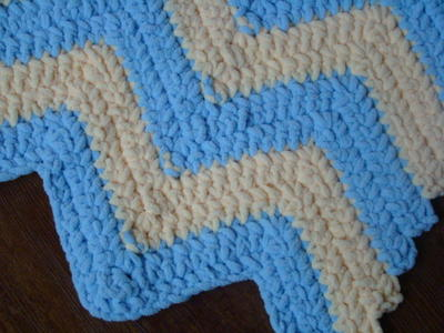 Fluffy Striped Baby Blanket