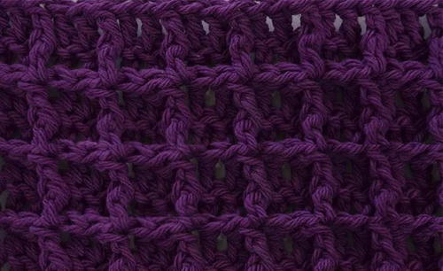 Waffle Stitch Crochet Tutorial  Square Pattern