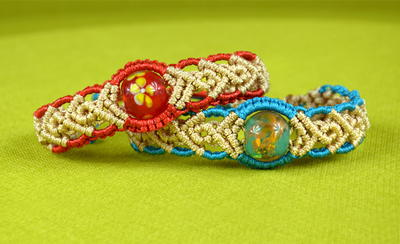 Hawaiian Beach Goddess Macrame Bracelet