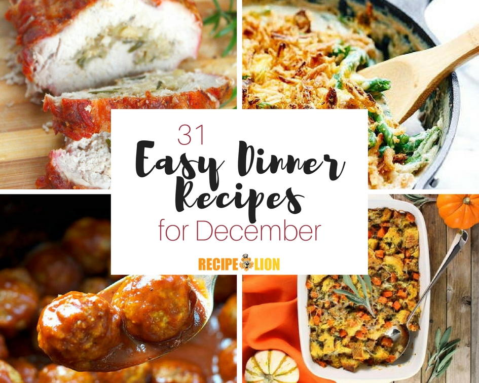 365 Easy Dinner Recipes for Every Day of the Year | RecipeLion.com