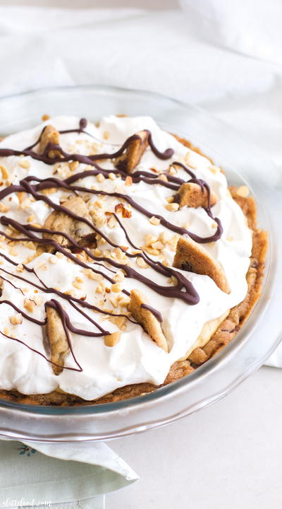 Chocolate Chip Cooke Peanut Butter Cream Pie