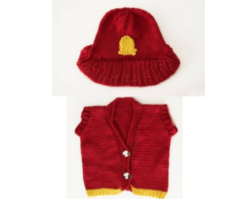 Firefighter Knit Vest And Hat Allfreeknitting