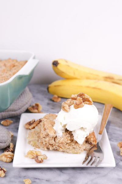 Effortless Banana Bread Dump Cake Recipe
