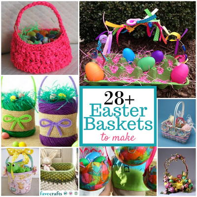 Diy easter basket ideas 28 easter baskets to make favecrafts spend easter morning with your family by having a nice brunch and looking for your easter baskets one of my favorite diy easter basket ideas is a nice negle Images