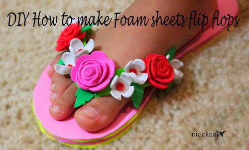 How to Make Foam Sheet Flip Flops