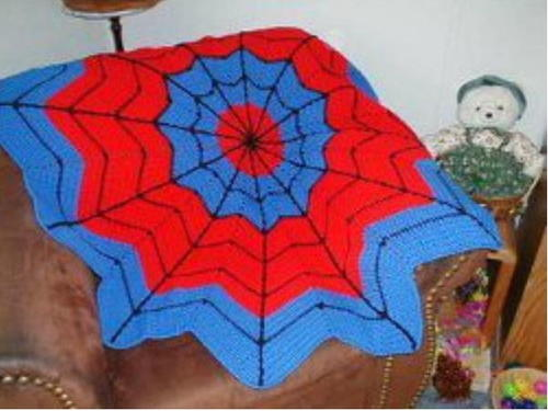 Spiderman Round Ripple Afghan Allfreecrochetafghanpatterns