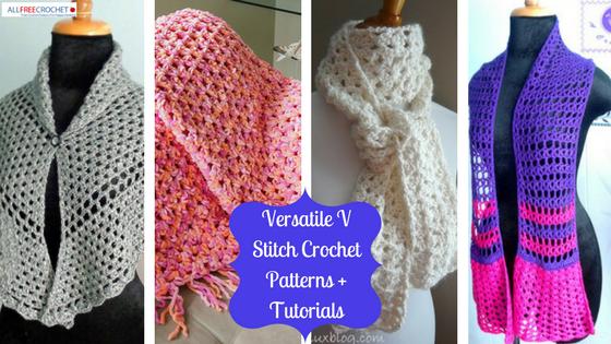19 Versatile V Stitch Crochet Patterns + Tutorials   AllFreeCrochet.com