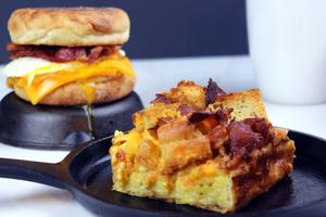 Egg & Bacon McMuffin Casserole Egg Bake