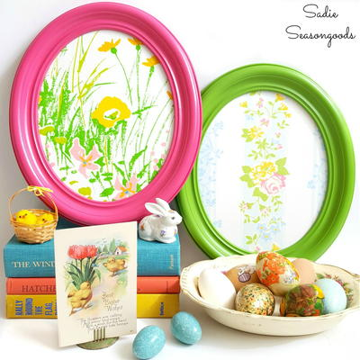 Vintage Easter Egg-Inspired Frames