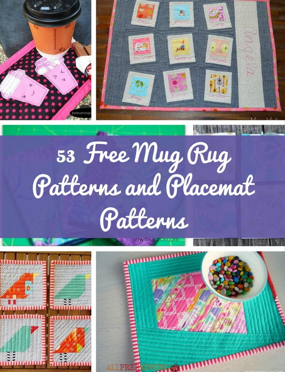53 Free Mug Rug Patterns and Placemat Patterns | AllFreeSewing.com : rug quilt - Adamdwight.com