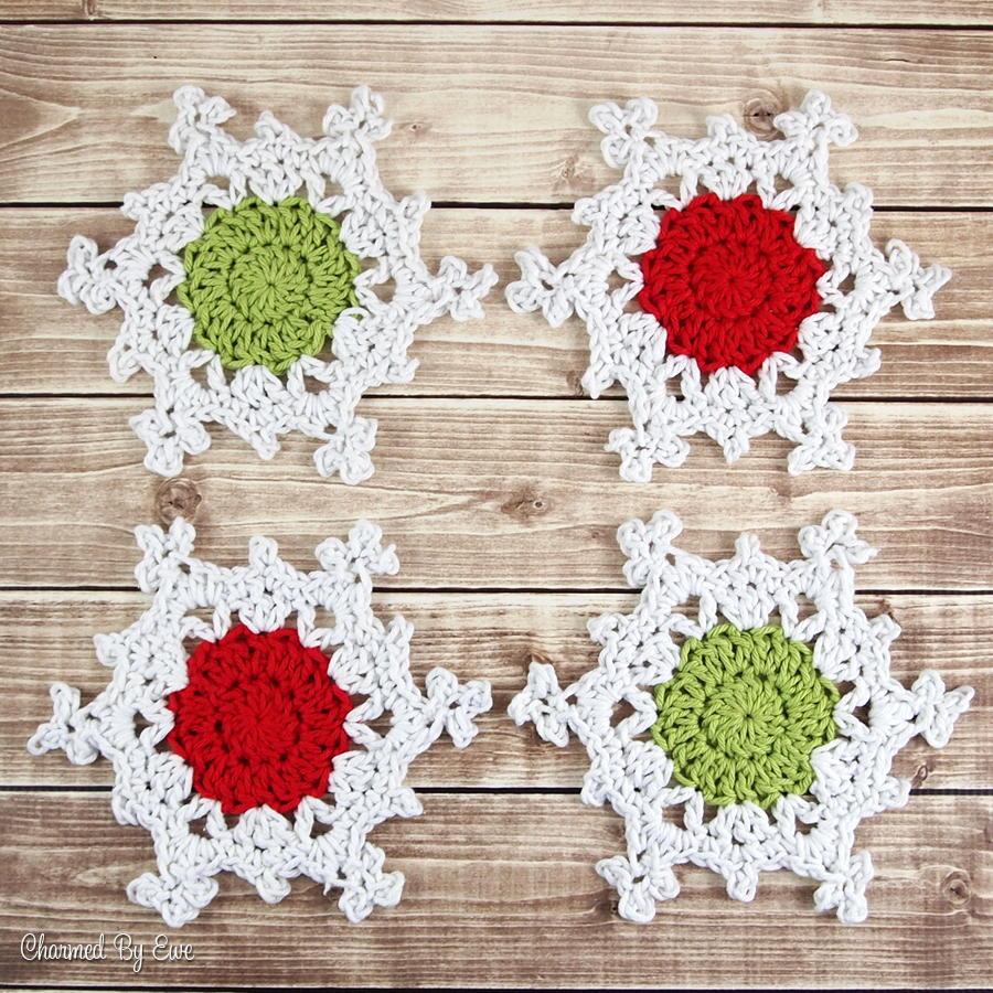 Snowflake Coasters Allfreecrochet