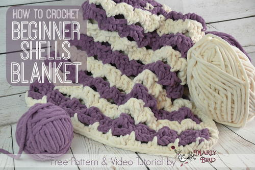 Beginner Shells Crochet Blanket Allfreecrochet