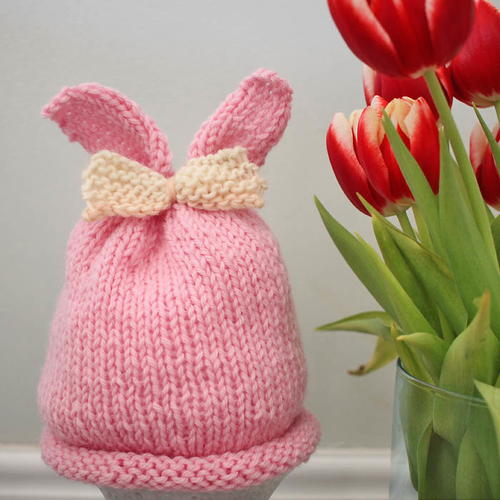 Baby Bunny Bow Hat