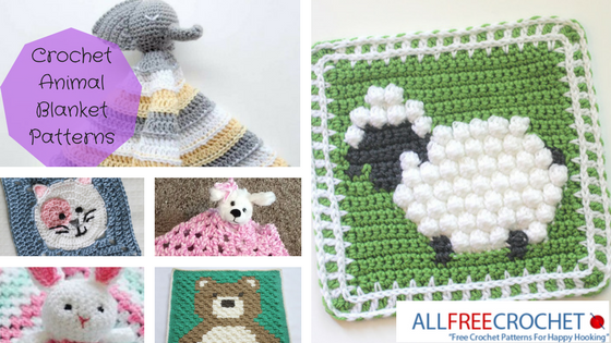 27 Crochet Animal Blanket Patterns | AllFreeCrochet.com
