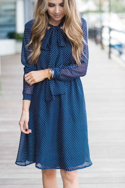 Chic Bow Collar Dress Tutorial