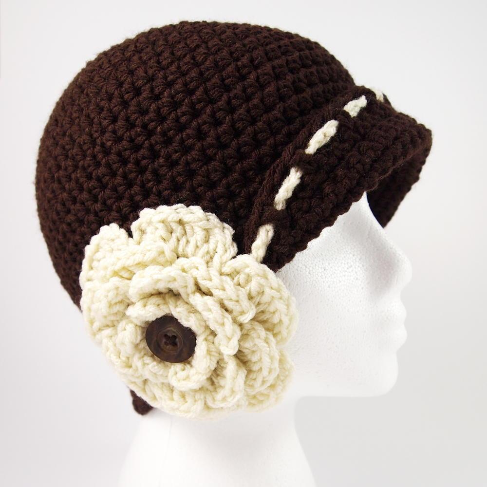 Vintage Flower Cloche Hat Crochet Pattern | AllFreeCrochet.com