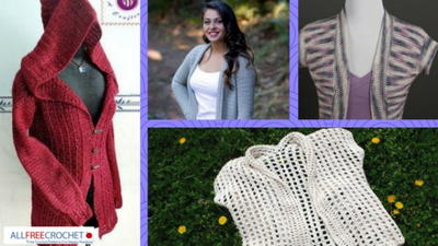 56 Easy Crochet Cardigan Patterns
